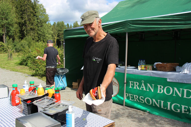 Gröna Hagars goda grillkorv.