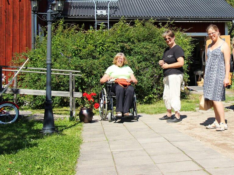 Gäster på Fallängetorps vandrarhem.