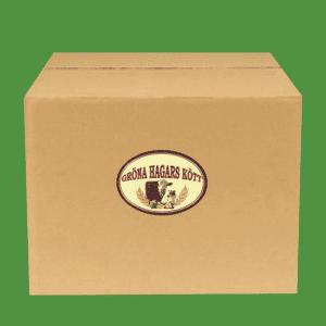 Stor låda med ekologiskt nötkött från Gröna Hagars Kött.