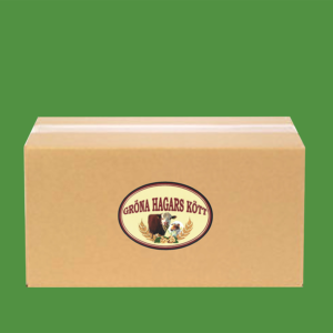 Liten låda med ekologiskt nötkött från Gröna Hagars Kött.